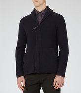 Reiss Filo Zip Ribbed Cardigan