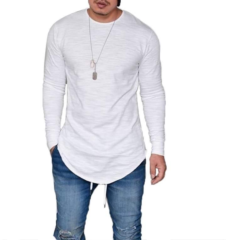 5b015ff441e2 Curved Hem Long Sleeved T Shirt Mens - ShopStyle Canada