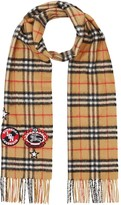 Burberry Vintage Check badge cashmere scarf
