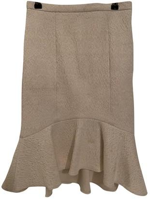 Tibi Ecru Cotton Skirt for Women