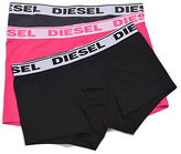 Diesel Three-Pack Stretch Cotton Boxer Trunks