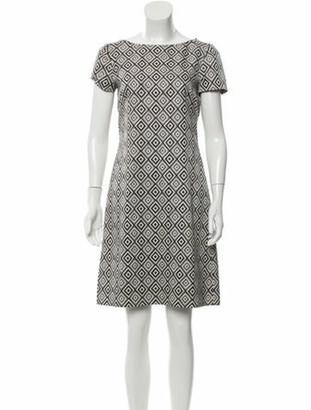 Prada Printed Short Sleeve Dress Grey