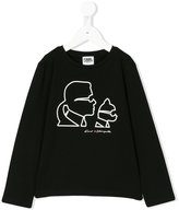 Karl Lagerfeld graphic top - kids - Cotton/Spandex/Elastane - 2 yrs