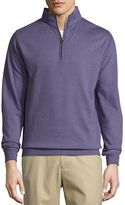 Peter Millar Heather Interlock Quarter-Zip Sweater