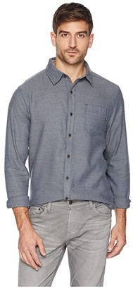 Marmot Hobson Midweight Flannel Long Sleeve (Dark Indigo Heather) Men's Long Sleeve Button Up