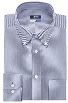 Izod Men's Regular Fit Stripe Buttondown Collar Dress Shirt