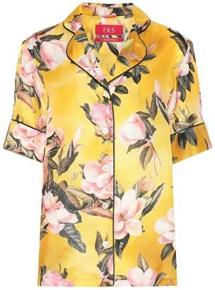 F.R.S For Restless Sleepers Bendis satin pajama shirt