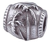 Zable Palm Tree Nature Seashore Nautical Sterling Silver Charm