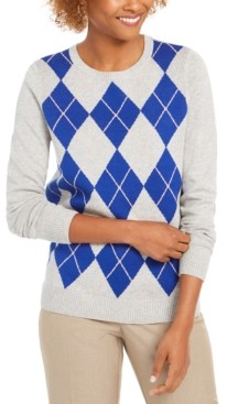 Charter Club Argyle Crewneck Sweater, Created For Macy's