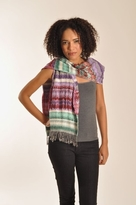 Tolani Zig Zag Scarf in Green Purple