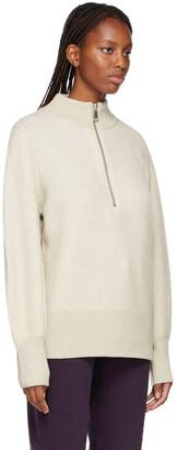 Won Hundred Delaney Balloon Sleeve Half-Zip Sweater
