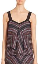 Derek Lam 10 Crosby Tiered Silk Tank Top