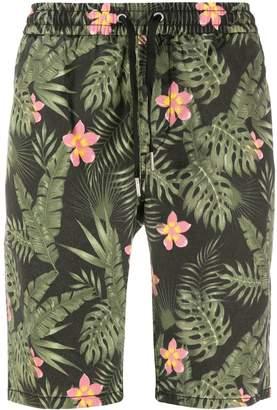 Sun 68 Tropical Floral Print Elasticated Waist Shorts