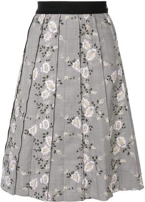 Giambattista Valli Pleated Floral Skirt