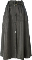 Nina Ricci snap button front midi skirt - women - Polyamide/Viscose - 40