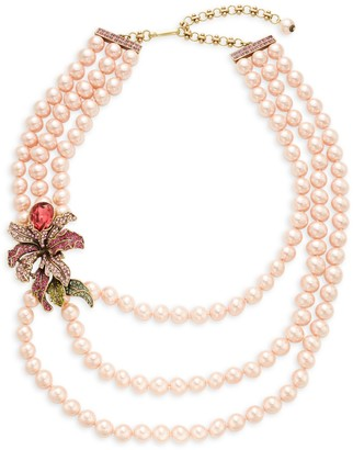 Heidi Daus Bold Flower Layered Strand Necklace