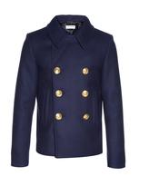 Saint Laurent Double-breasted wool pea coat