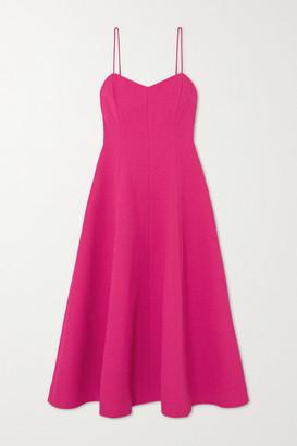 Rebecca Vallance Natalia Cloque Midi Dress - Pink