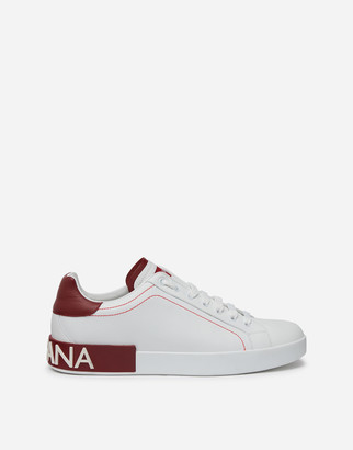 Dolce & Gabbana Nappa Leather Portofino Sneakers