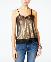 GUESS Camille Sequined Top