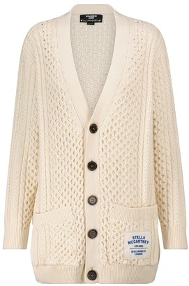 Stella McCartney Cotton-blend Aran cardigan