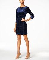 Jessica Howard Velvet Glitter Shift Dress