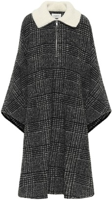 Etoile Isabel Marant Gabin checked wool-blend poncho