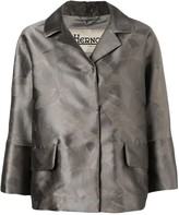 Herno metallic-look floral print jacket