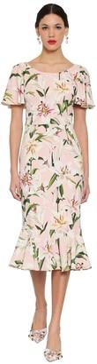Dolce & Gabbana Printed Cady Midi Dress