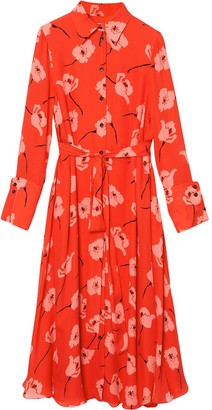 Carolina Herrera Floral-Print Shirt Dress