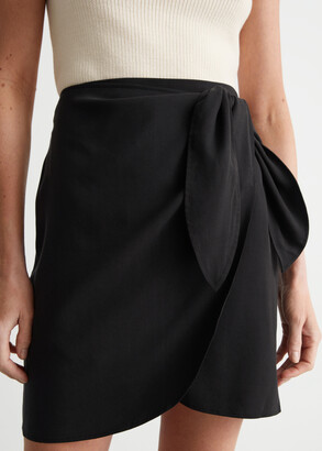 And other stories Lyocell Blend Wrap Mini Skirt