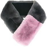 N.Peal fur contrast neck warmer