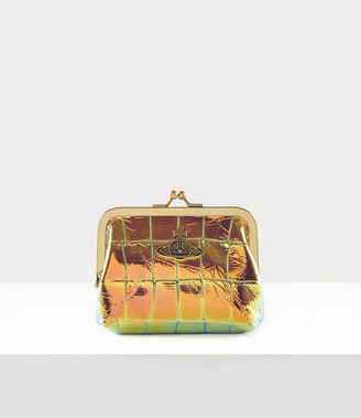 Vivienne Westwood Archive Orb Frame Coin Purse Iridescent/Brass