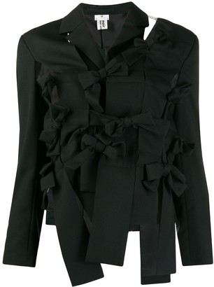 Comme des Garcons Deconstructed Woven Bow Blazer