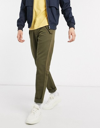 Paul Smith tapered fit pocket detail trousers in khaki