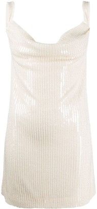 Misha Collection Sequin Embellished Dress