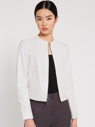 Alice + Olivia Yardley Polka Dot Leather Jacket