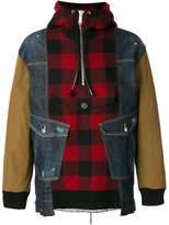 DSQUARED2 lumberjack shirt panel jacket