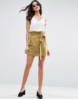 Asos Button Through Linen Mini Skirt