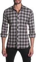 Jared Lang Trim Fit Long Sleeve Plaid Sport Shirt