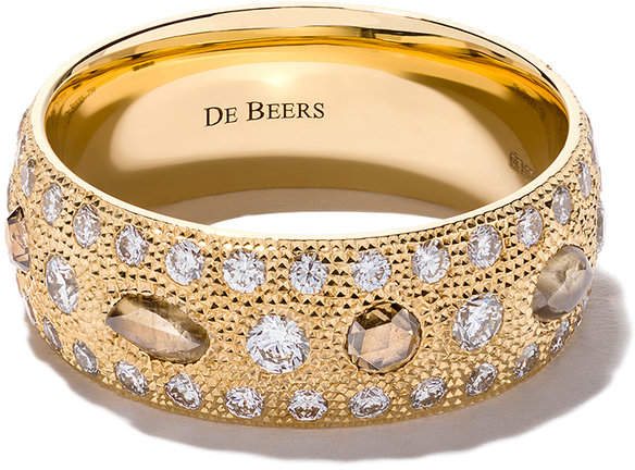 De Beers 18kt yellow gold Talisman diamond band