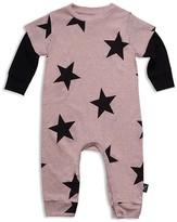 Nununu Infant Girls' Star Print Coverall - Sizes 0-12 Months