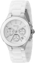 DKNY Chambers White Ceramic Chronograph Watch