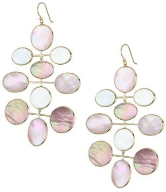 Ippolita Polished Rock Candy Long 18K Yellow Gold & Multi-Stone Mobile Drop Earrings
