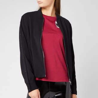 Karl Lagerfeld Paris Women's Bomber Jacket with Snap Sleeves