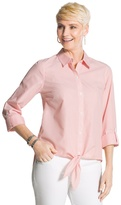 Chico's Striped Tie-Front Shirt