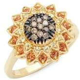 Roberto Coin Black Diamond, Yellow Sapphire and 18K Yellow Gold Ring