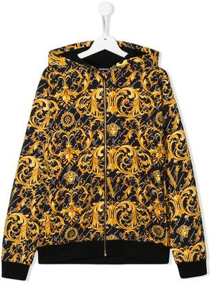 Versace TEEN baroque print hoodie