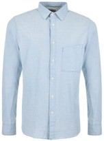 Nudie Jeans Stanley Chambray Shirt Blue
