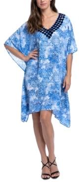 Gottex Taj Mahal Printed Tunic Swim Cover-Up Women's Swimsuit
